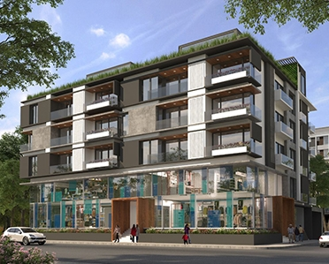 Commercial space and 2 and 3 BHK apartment for sale